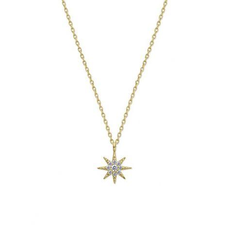 CARAT* London 9 CT Yellow-Gold Lyra Necklace
