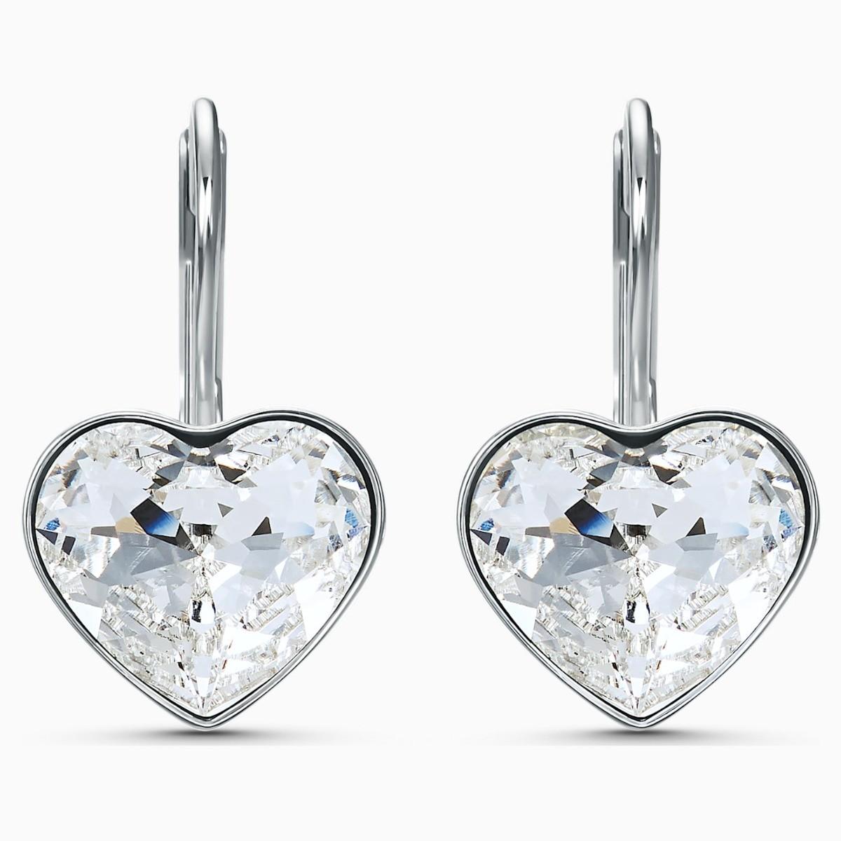 Swarovski Silver BELLA HEART EARRINGS