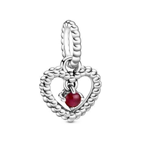 Pandora January Birthstone Silver Heart Dangle Charm