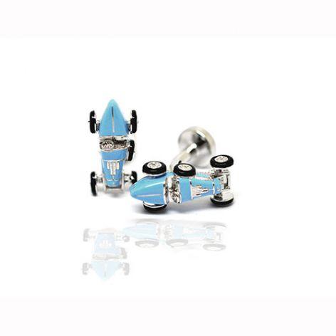 Babette Wasserman Retro Light Blue Car Cufflinks