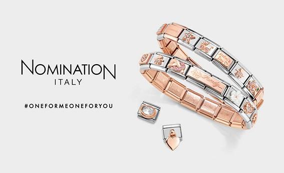 nomination rose & steel bracelet grey background