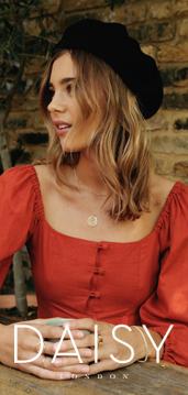 Daisy London red girl in black beret