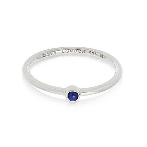 Daisy London Lapis & Silver Healing Stone Ring
