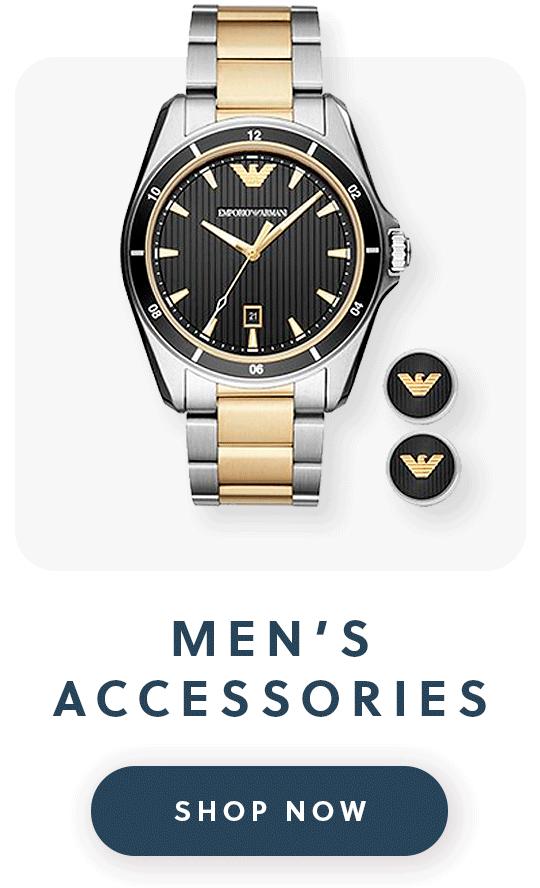 An Emporio Armani watch and matching cufflinks