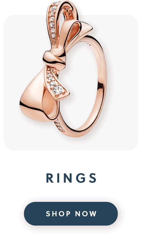 A Pandora rose gold bow ring