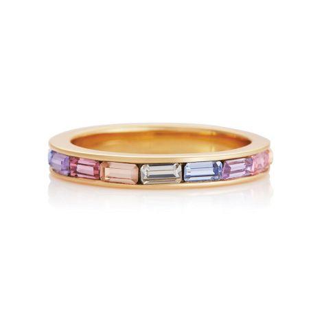 Olivia Burton Rainbow Baguette Gold Ring