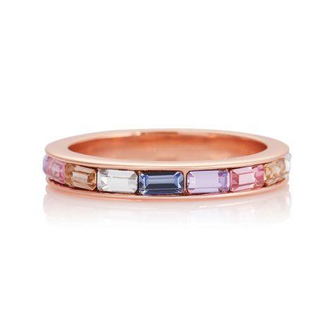 Olivia Burton Rainbow Baguette Rose Ring