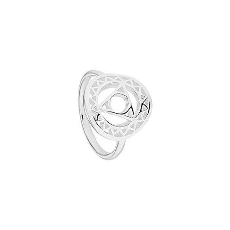 Daisy Silver Throat Chakra Ring