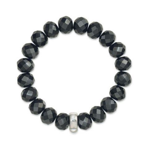 Thomas Sabo Silver & Obsidian Charm Carrier Bracelet