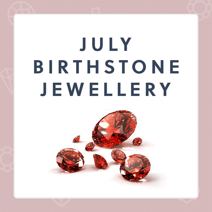 July Birthstone Jewellery - Ruby