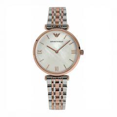 Emporio Armani Round Two-Tone Women's Watch