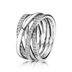 PANDORA Entwining Silver & Zirconia Rings