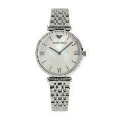 Emporio Armani Steel & White Logo Men's Watch