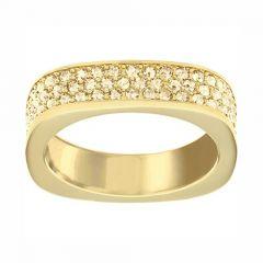 Swarovski Vio Yellow- Gold Tone Plated Ring