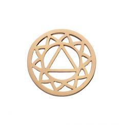 Daisy Rose Gold Plated Solar Plexus Chakra Halo Coin