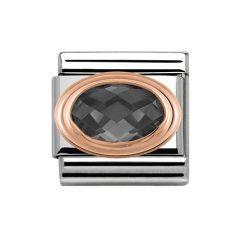 Nomination Classic Rose-Gold & Black Cubic Zirconia Charm