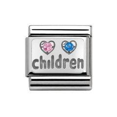 Nomination Composable Classic Silver & Cubic Zirconia Children Charm