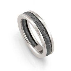 Nomination Mens Black Flair Ring Size 23