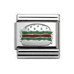 Nomination Composable Classic Hamburger Charm