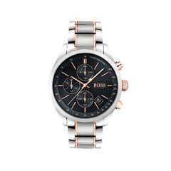 Hugo Boss Grand Prix Chronograph Black Dial Two Tone 43mm Watch