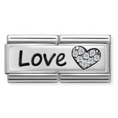 Nomination Composable Classic Double Love Heart Charm