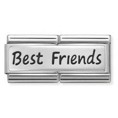Nomination Composable Classic Steel Double Best Friend Charm