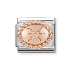Nomination Composable Classic Pisces Rose & Steel Charm