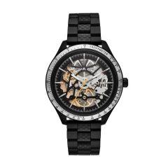 Michael Kors Merrick Skeleton Black Steel 43.5 mm Automatic Watch