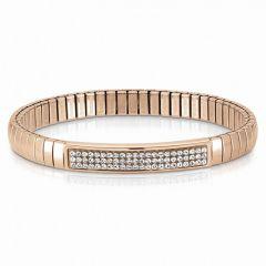 Nomination Glitter Rose-Gold Steel Stretch Bracelet