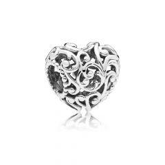 PANDORA Silver Regal Heart Charm
