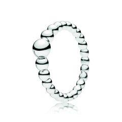 PANDORA Silver String of Beads Ring