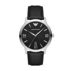 Emporio Armani Giovanni Steel & Leather 44 mm Men's Watch