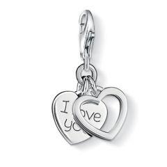Thomas Sabo Silver 'I Love You' Heart Charm