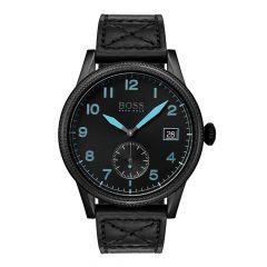 BOSS Watches Legacy Black Steel & Leather 44 mm Men's Watch