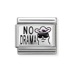 Nomination Steel & Silver No Drama Llama Charm