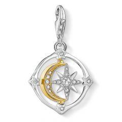 Thomas Sabo Spinning Moon & Star Silver Charm