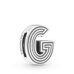 PANDORA Reflexions Sterling Silver Alphabet G Clip