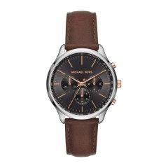 Michael Kors Sutter Chronograph Steel Black & Brown 42MM Men's Watch