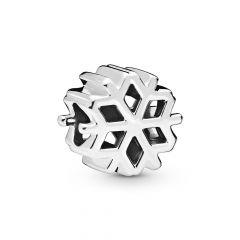 Pandora Moments Polished Snowflake Silver Charm