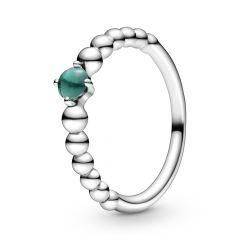 Pandora May Birthstone Royal Crystal & Silver Beaded Ring
