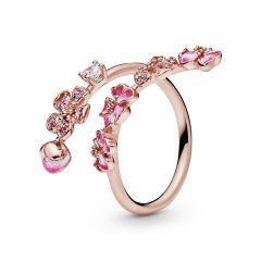 Pandora Peach Blossom Flower Open Ring