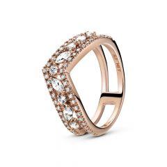 Pandora Sparkling Marquise Double Wishbone Ring