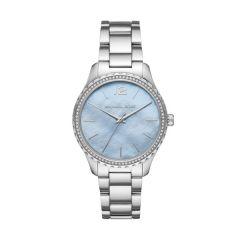 Michael Kors Layton Steel & Blue Dial 38MM Watch