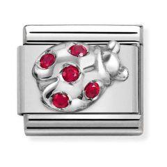 Nomination Composable Classic Steel Sparkle Ladybird Charm