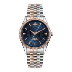 Vivienne Westwood Wallace Steel Jacquard Blue 38 MM Watch