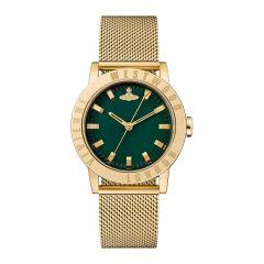 Vivienne Westwood Warwick Gold Mesh & Green 34MM Women's Watch