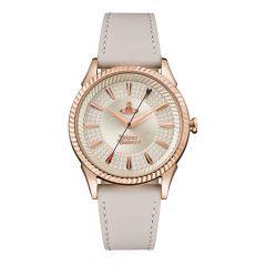 Vivienne Westwood Seymour Rose-Gold & Beige Leather 38MM Watch