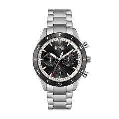 BOSS Watches Santiago Chronograph Steel & Black 44MM Men's Watch