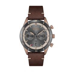 BOSS Watches Santiago Chrono Grey Steel & Brown 44MM Men's Watch