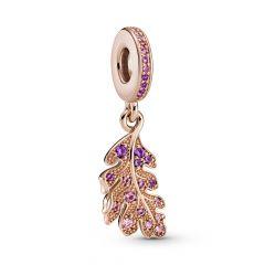 Pandora Moments 14K Rose Gold-Plated Oak Leaf Dangle Charm